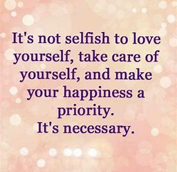 its not selfish
